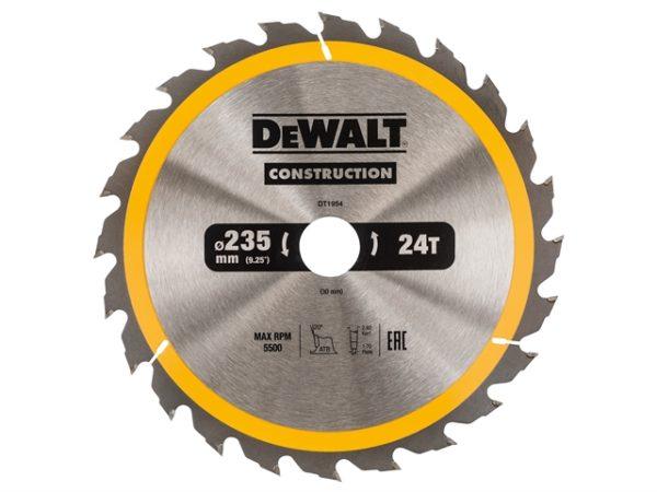 Portable Construction Circular Saw Blade 235 x 30mm x 24T