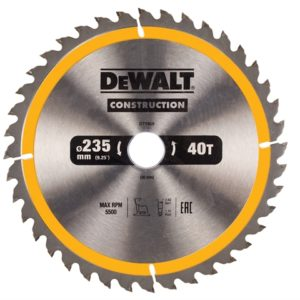 Portable Construction Circular Saw Blade 235 x 30mm x 40T