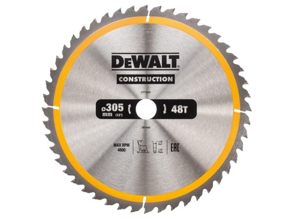 Stationary Construction Circular Saw Blade 305 x 30mm x 48T