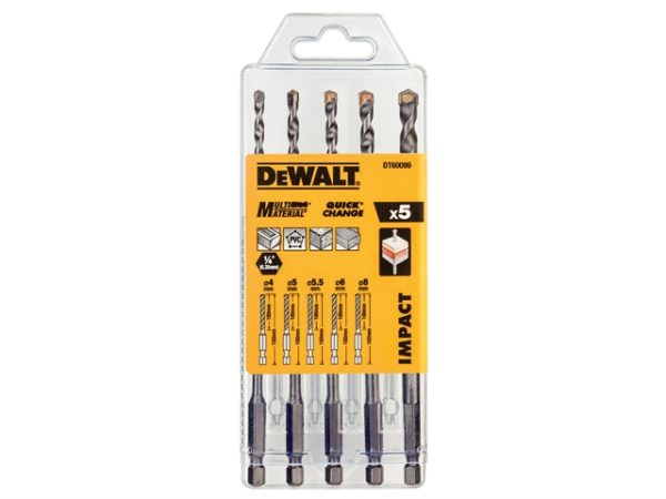 DT60099 Extreme Impact Masonry Drill Bit Set 5 Piece