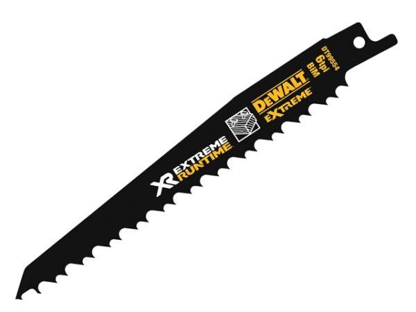 FlexVolt XR Wood With Nails Reciprocating Blades 152mm 4/6 TPI Pack of 5