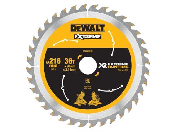 FlexVolt XR Circular Saw Blade 216 x 30mm x 36T