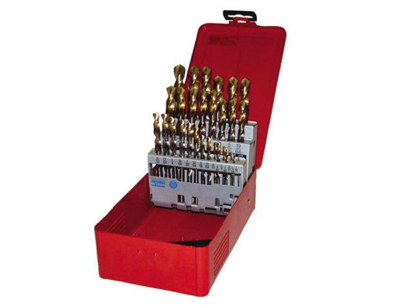 A095 Set 201 A002 HSS TiN Coated Jobber Drill Set of 19 1.0-10.0 x 0.5mm