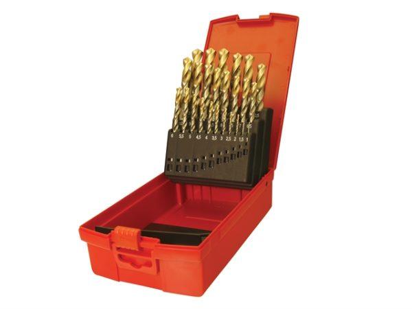 A095 Set 202 A002 HSS TiN Coated Jobber Drill Set of 51 1.0-6.0 x 0.1mm