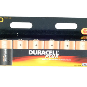 D Cell Plus Power Batteries Pack of 6 LR20/HP2