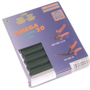 Green Coated Steel Hog Ring Omega 20(1000)