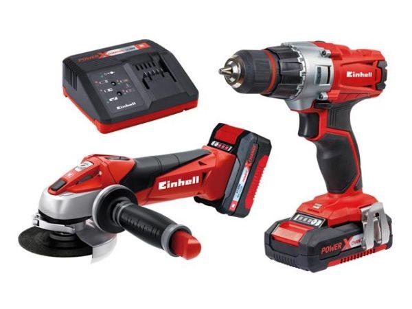 TE-TK 18 Li Drill & Grinder Kit 18V 1 x 1.5Ah & 1 x 3.0Ah Li-ion