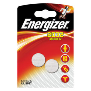 CR2032 Coin Lithium Battery Pack of 2