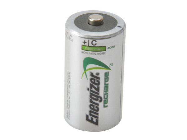 C Cell Rechargeable Power Plus Batteries RC2500 mAh Pack of 2