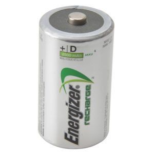 D Cell Rechargeable Power Plus Batteries RD2500 mAh Pack of 2
