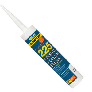 Industrial & Glazing Silicone Brushed Steel 295ml 225