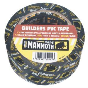 Builder's PVC Tape Black 50mm x 33m