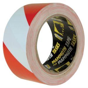 PVC Hazard Tape Red / White 50mm x 33m