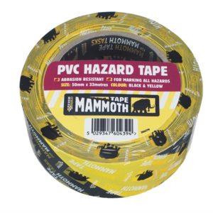 PVC Hazard Tape Black / Yellow 50mm x 33m