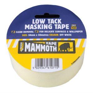 Low Tack Masking Tape 50mm x 25m