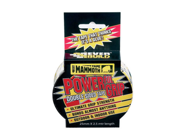 Powerful Grip Double Sided Tape 25mm x 2.5m