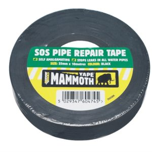 SOS Pipe Repair Tape Black 25mm x 10m