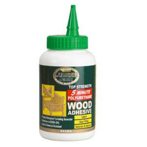 Lumberjack 5min Polyurethane Wood Adhesive Liquid 750g