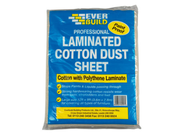 Laminated Cotton Dust Sheet 3.6 x 2.7m