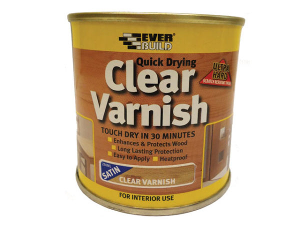 Quick Dry Wood Varnish Satin Clear 250ml