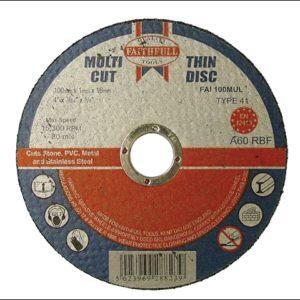Multi-Purpose Cutting Discs 100 x 1.0 x 16mm (Pack of 10)