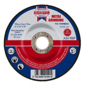 Depressed Centre Metal Grinding Disc 100 x 5 x 16mm