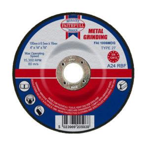 Depressed Centre Metal Grinding Disc 100 x 6.5 x 16mm