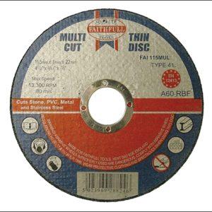 Multi-Purpose Cutting Discs 115 x 1.0 x 22.23mm (Pack of 10)