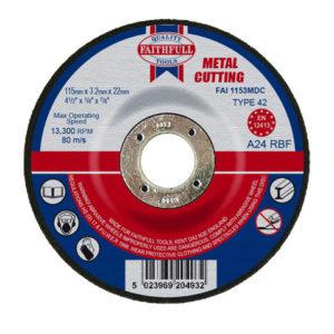 Depressed Centre Metal Cutting Disc 115 x 3.2 x 22.23mm