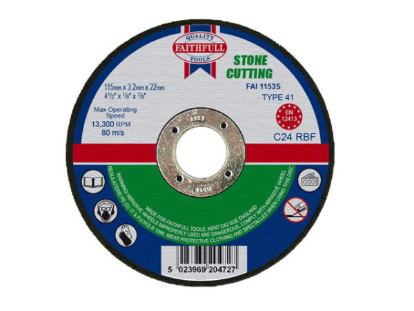 Stone Cut Off Disc 115 x 3.2 x 22.23mm