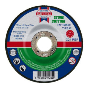Depressed Centre Stone Cutting Disc 115 x 3.2 x 22.23mm