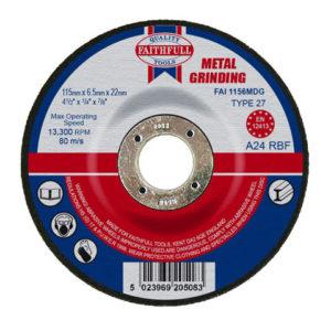 Depressed Centre Metal Grinding Disc 115 x 6.5 x 22.23mm