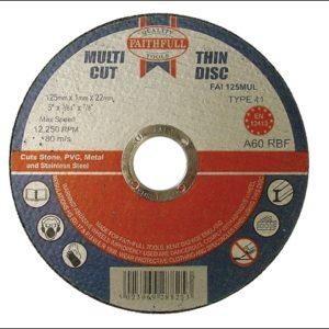 Multi-Purpose Cutting Disc 125 x 1.0 x 22.23mm (Pack of 10)