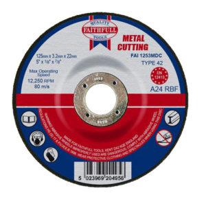 Depressed Centre Metal Cutting Disc 125 x 3.2 x 22.23mm