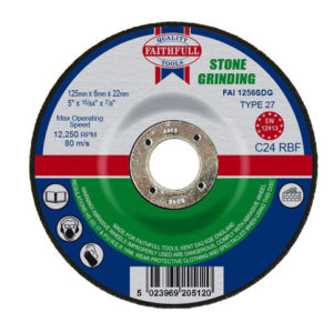 Depressed Centre Stone Grinding Disc 125 x 6 x 22.23mm
