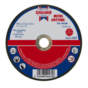 Metal Cut Off Disc 180 x 3.2 x 22.23mm