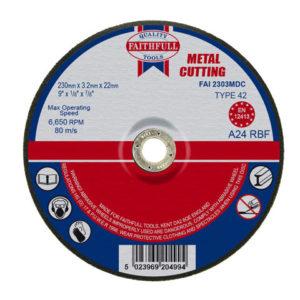 Depressed Centre Metal Cutting Disc 230 x 3.2 x 22.23mm