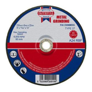 Depressed Centre Metal Grinding Disc 230 x 6.4 x 22.23mm
