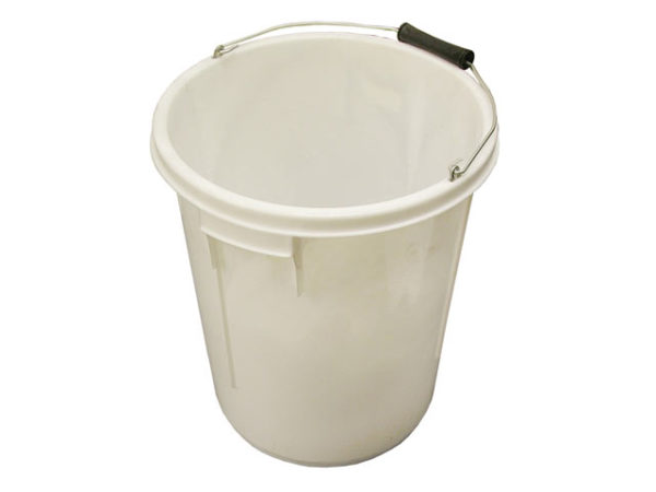 5 Gallon 25 litre Bucket - White