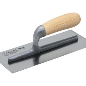 820 Plasterer's Finishing Trowel Stainless Steel Wooden Handle 11 x 4.3/4in
