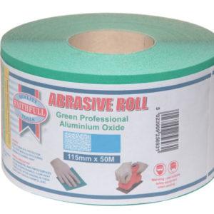 Aluminium Oxide Sanding Paper Roll Green 115mm x 50m 80G
