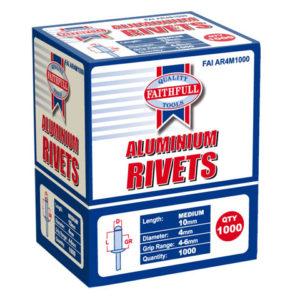 Aluminium Rivets 4 x 10mm Medium Bulk Pack of 1000