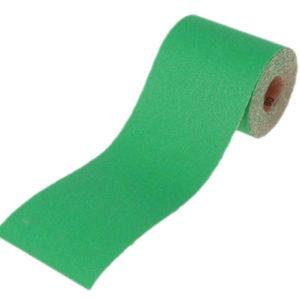 Aluminium Oxide Sanding Paper Roll Green 115mm x 5m 80G