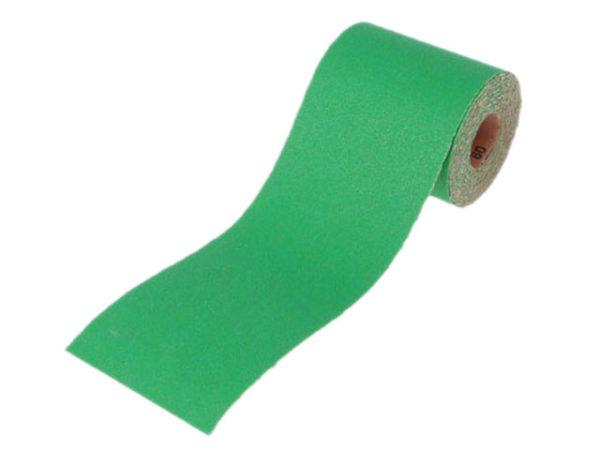Aluminium Oxide Sanding Paper Roll Green 115mm x 5m 60G