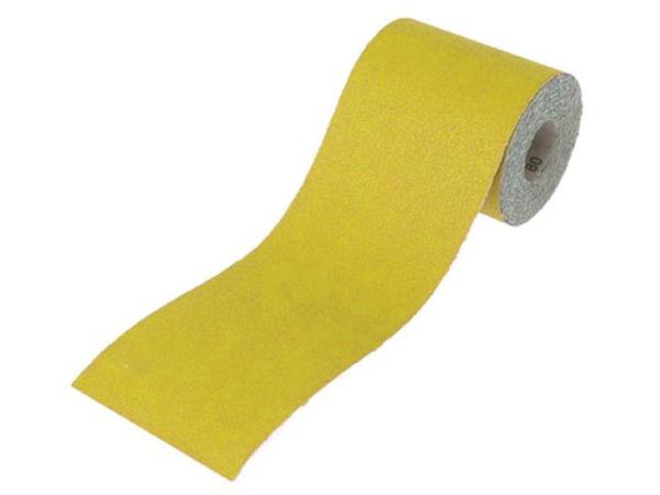 Aluminium Oxide Sanding Paper Roll Yellow 115mm x 10m 80G
