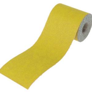 Aluminium Oxide Sanding Paper Roll Yellow 115mm x 5m 120G