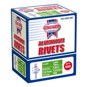 Aluminium Rivets 4.8 x 14mm Long Bulk Pack of 500