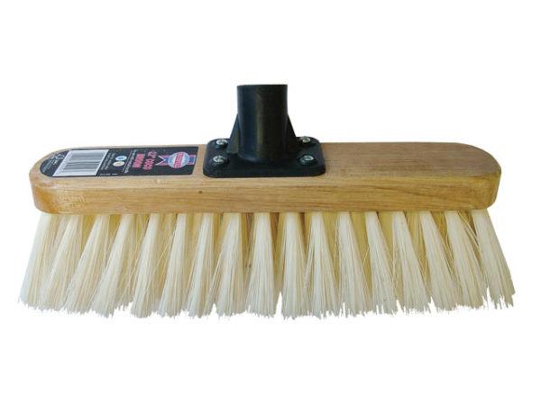 Broom Head Soft Cream PVC Bristle 300mm (12in) Threaded Socket