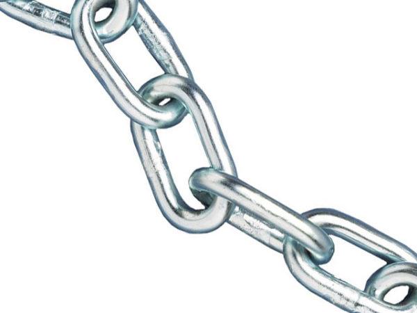 Zinc Plated Chain 5mm x 25m Reel - Max Load 160kg