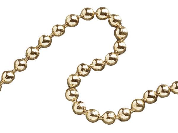 Ball Chain Polished Brass 3.2mm x 10m